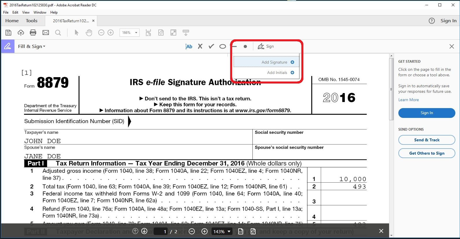 Remotely Signing the 8879 – Taxware Systems